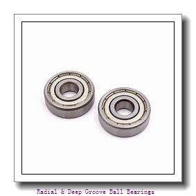 19.05 mm x 41,275 mm x 7,92 mm  Timken S8PP Radial & Deep Groove Ball Bearings